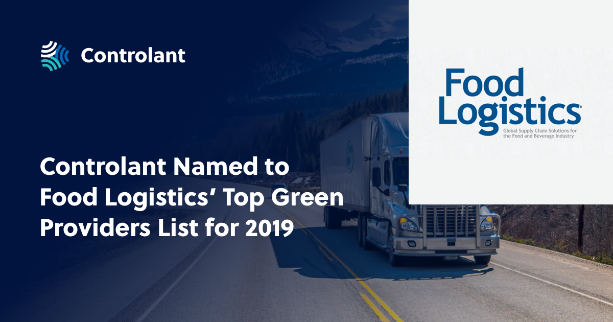 Controlant Named to Food Logistics' Top Green Providers List